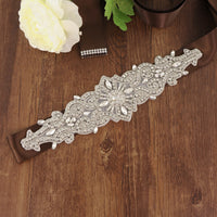 Handmade Rhinestone Crystals Bridal Sash Wedding Dress Belt S26-S - sepbridals