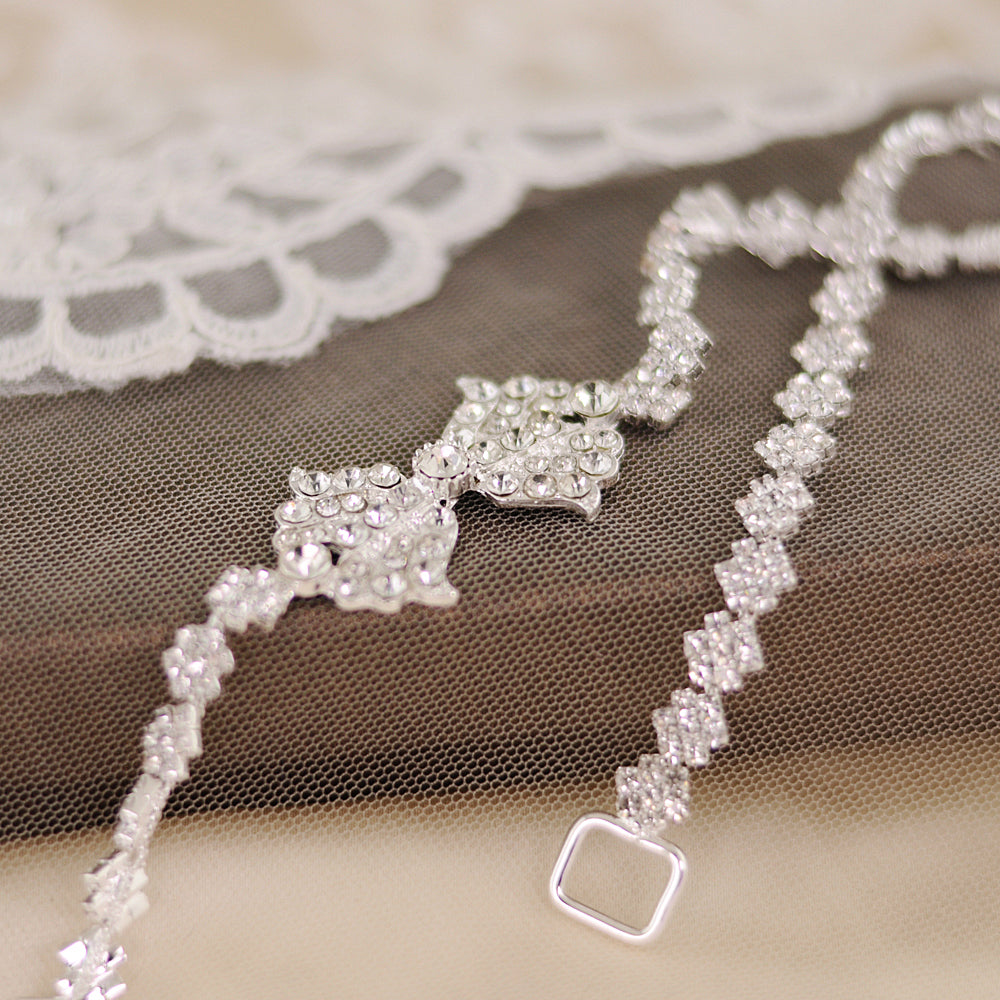 Handmade Rhinestone Crystals Bridal Sash Wedding Dress Belt S304 - sepbridals