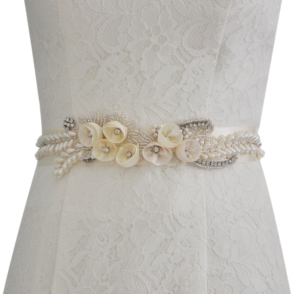 Handmade Rhinestone Crystals Bridal Sash Wedding Dress Belt S321 - sepbridals