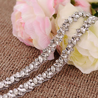 Handmade Rhinestone Crystals Bridal Sash Wedding Dress Belt S404 - sepbridals