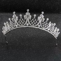 Cubic zircon wedding  bridal royal tiara diadem crown CH10252 - sepbridals