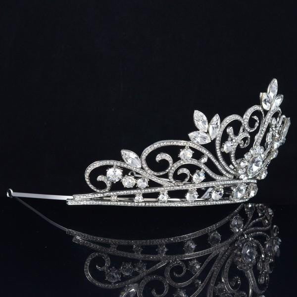 Cubic crystals wedding  bridal royal tiara diadem crown SHA8496 - sepbridals