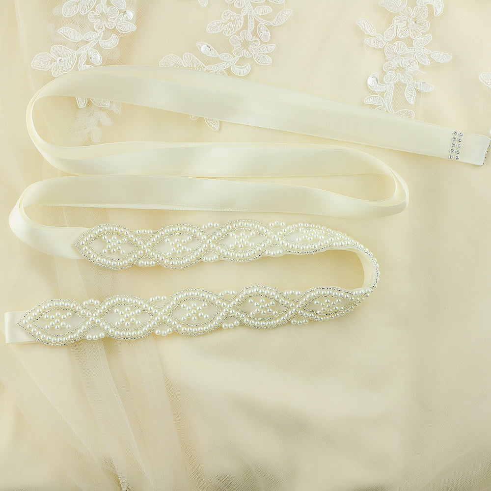 Handmade Rhinestone Crystals Bridal Sash Wedding Dress Belt S353 - sepbridals