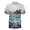 Shop Nixxle handmade apparel sneakers T-Shirts & Tanks XS Cotton Jersey T-Shirt - California Coast Photo All Over Print