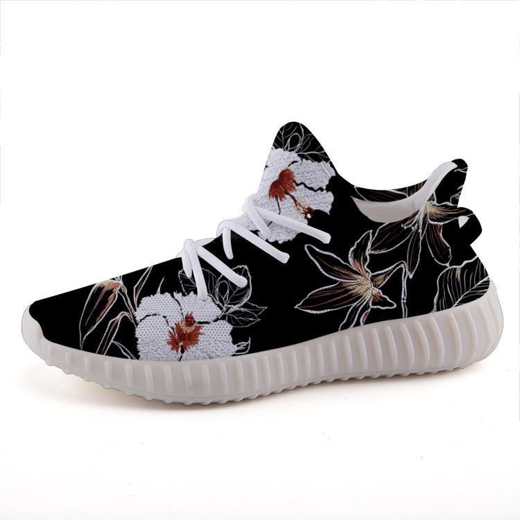 Shop Nixxle handmade apparel sneakers Shoes 35 Float 365 - Black & White Floral