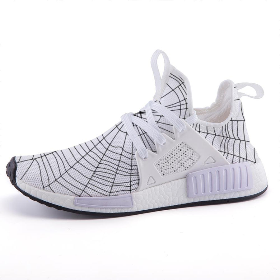 Shop Nixxle handmade apparel sneakers Shoes US 3 Men - US 5 Women (35 EU) Kinbaku - Spiderweb White
