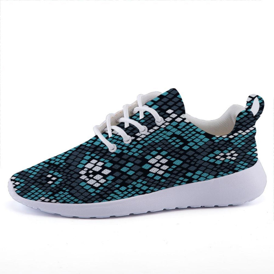 Shop Nixxle handmade apparel sneakers Shoes US 3 Men - US 5 Women (35 EU) Take 10 - Blue Snakeskin
