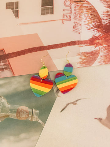 """we've got pride"" clay earrings"