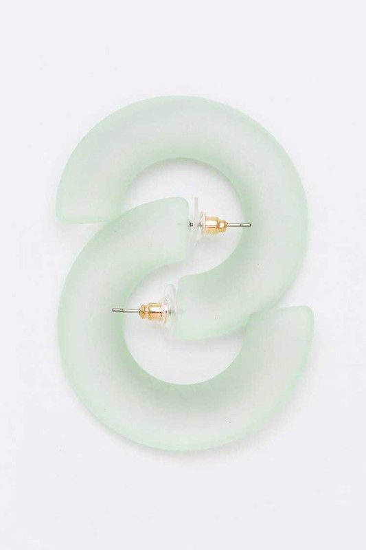 Mint Translucent Retro Hoops