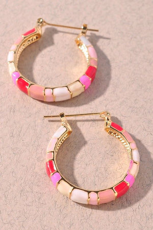 Monochromatic Pink Small Hoop