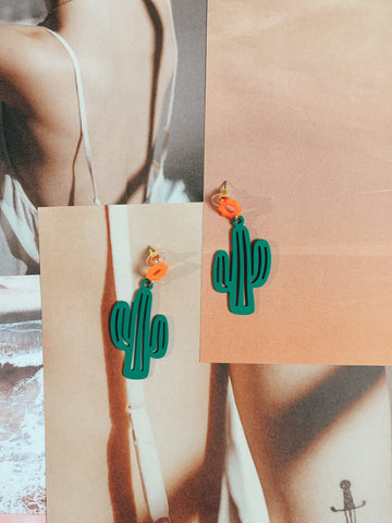 Western Soul Cacti Drop Earrings