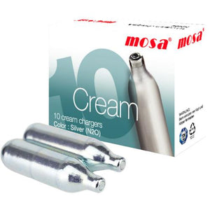 Mosa Cream Chargers x 10