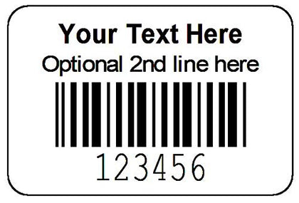 "1000 Roll 1-1/2"" x 1"" Printed Serial Number Bar Code Labels - Custom Printed"