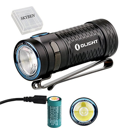 Olight S1 MINI Cree XM-L2 LED 600 Lumens Ultra Compact LED Flashlight, Rechargeable Battery
