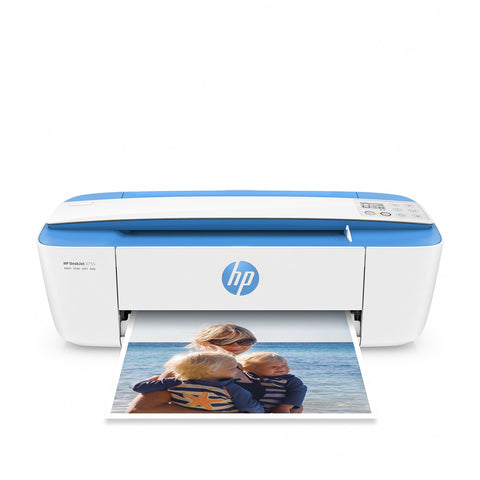 HP DeskJet 3755 Compact All-in-One Wireless Printer with Mobile Printing, Instant Ink ready - Blue Accent (J9V90A)