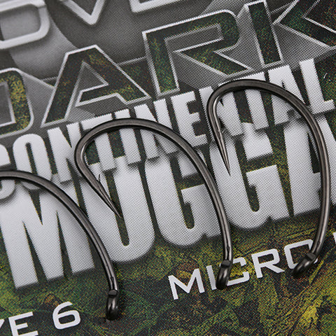 COVERT DARK CONTINENTAL-MUGGA HOOKS BARBED SIZE 4