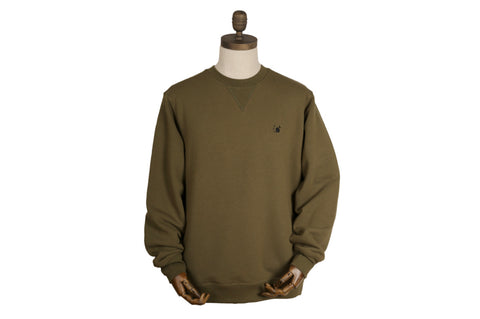 Thinking Anglers Crew Neck Medium Olive
