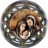 Holy Family - Hearth and Home - Moon - Openwork background (Model 9) - Silver-Viktor-Art