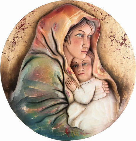 Saint Mary and Baby Jesus - Patron of Travellers (Romanian)-Viktor-Art