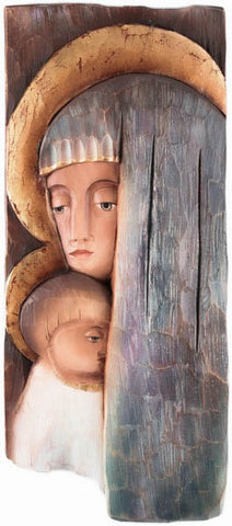 Saint Mary with Baby Jesus - Icon style-Viktor-Art