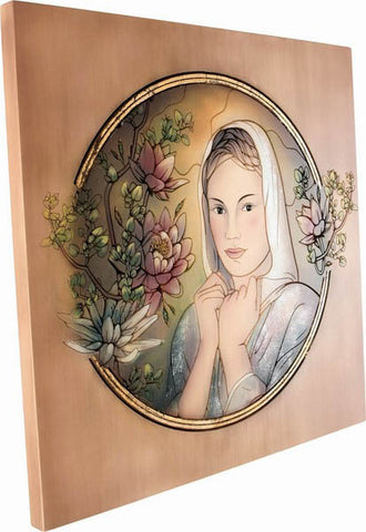 Wooden Engraved Painting (Model 5), decor, Decoration, engraved, Handpainted, Wall Decor, wooden sculpture gift present Viktor-Art, Looking for a house warming party present? Tired of all the Chinese mass production? This is the piece of art for you! Hand painted and 3D engraved in wood portraits. Made in Poland by licensed artists. Buy now! Engraved Woman Portrait D-GW/05 Engraved Painting Dimensions: (as per variant) Material: maple wood