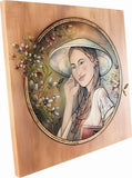 Wooden Engraved Painting (Model 6), decor, Decoration, engraved, Handpainted, Wall Decor, wooden sculpture gift present Viktor-Art, Finally a painting that you can touch and feel! Unique piece of art from Viktor-Art - exclusive woodcarving. Portraits of beautiful women. Hand painted. Made in Poland. Engraved Woman Portrait D-GW/06 Engraved Painting Dimensions: (as per variant) Material: maple wood