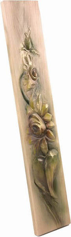 Wooden Ornament (Sunflower), Decoration, handcarved, Handpainted, relief, Sculpture, Wall Decor, wooden sculpture gift present Viktor-Art, Improve your interior style. Neat wall decoration from Viktor-Art for your living room, entrance hall, office, kitchen. Hand made, natural and unique! No piece is the same due to hand carving and painting. 58cm long. Made in Poland. Buy now! Ornament Flowers D-OR/03 wall sculpture Dimensions: (58cm x 11cm x3cm)Material: lime wood