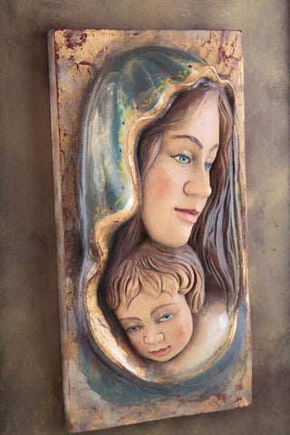 Saint Mother Mary with Baby Jesus (Model 2)-Viktor-Art