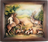 St. Hubertus - Patron of Hunter - Deer Hunting Scene-Viktor-Art