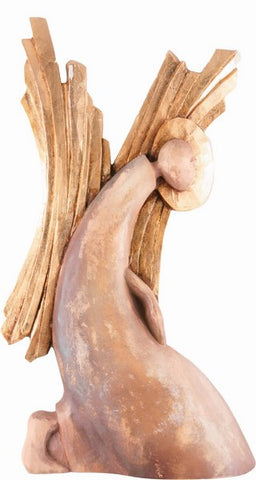 Angel - Humble (Model 3), Angels, handcarved, Handpainted, Sacral, Sculpture, Wall Sculpture, wooden sculpture gift present Viktor-Art, Ever thought of having an angel in your home? Now you can with this outstanding sculpture from Viktor-art. This Angel is displayed in a humble posture begging for God's forgiveness. You can order yours from our online store! Angel - Humble (Model 3) Wooden wall sculpture - bas-relief Dimensions: (36cm x 20cm x 6cm) Material: lime wood