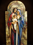 Holy Family - Hearth and Home - Byzantine (Model 4) - Gold - Mega Size-Viktor-Art