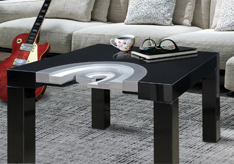 Coffee Table - 'Allegretto' - Wood & Metal