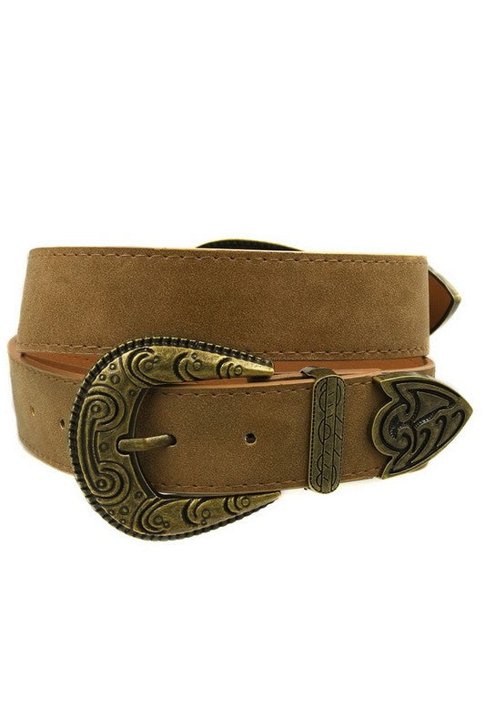 Shake It For Me Belt- Brown/Gold