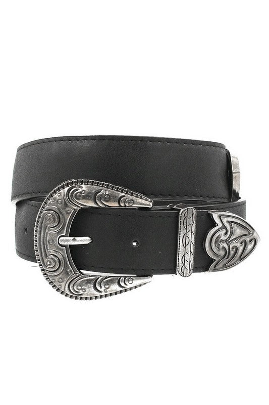 Shake It For Me Belt- Black/Silver