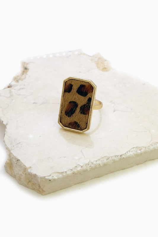 Venice Leopard Gold Ring - Fourth and Harper