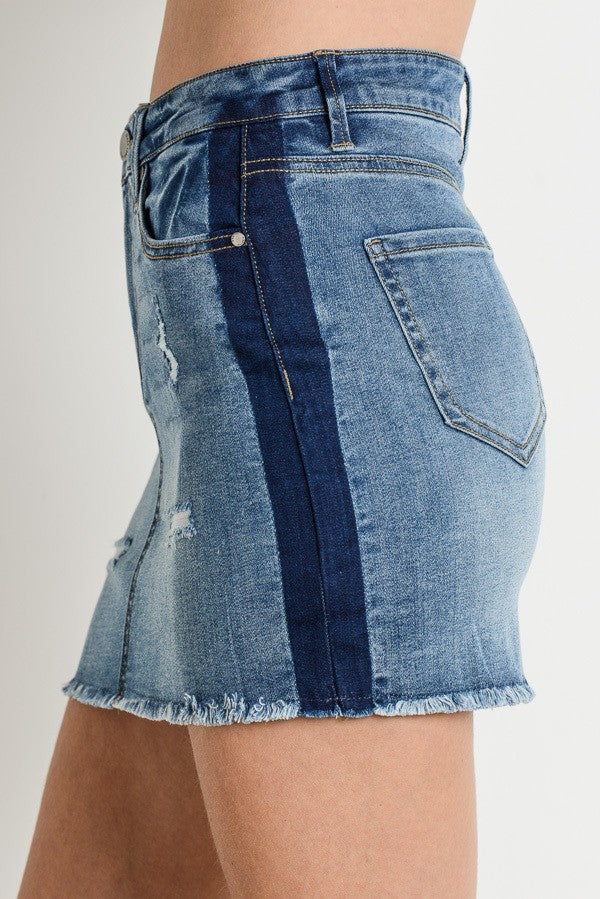 Hayden Denim Skirt - Fourth and Harper