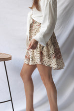 Flowery Tiered Skirt - Fourth and Harper