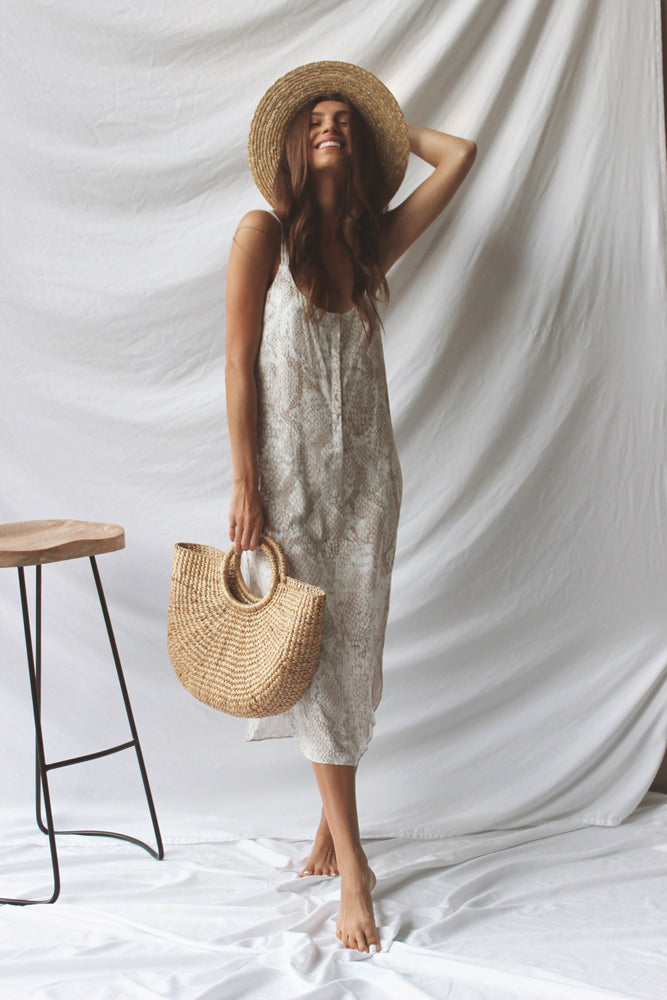 Nicolette Snakeskin Dress - Fourth and Harper