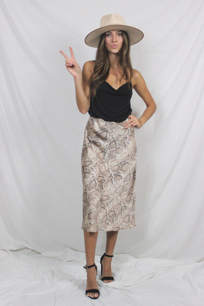 Bring the Animal Out of Me Skirt- Snakeskin