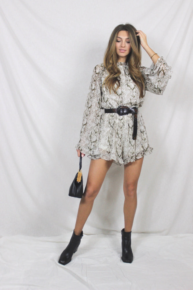 Just For Her Snakeskin Romper