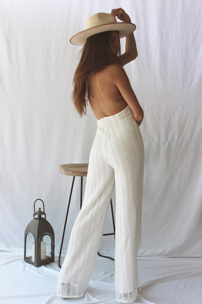Ariel White Jumpsuit - Fourth and Harper