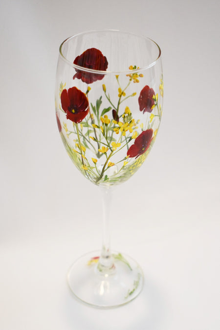 Spring Vineyard Wine Glass