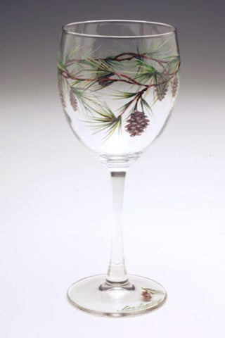 Pine Wine Glass