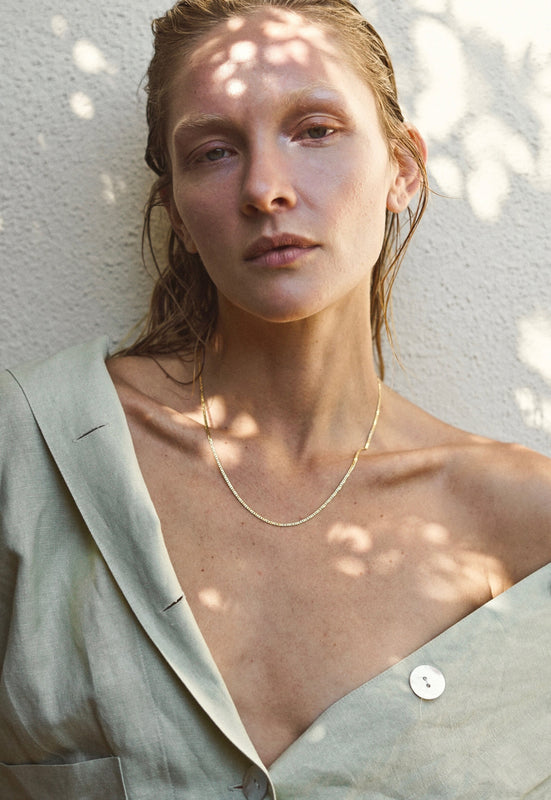 Everyday Mountainside Made Essential Gold Layering Chain Necklace