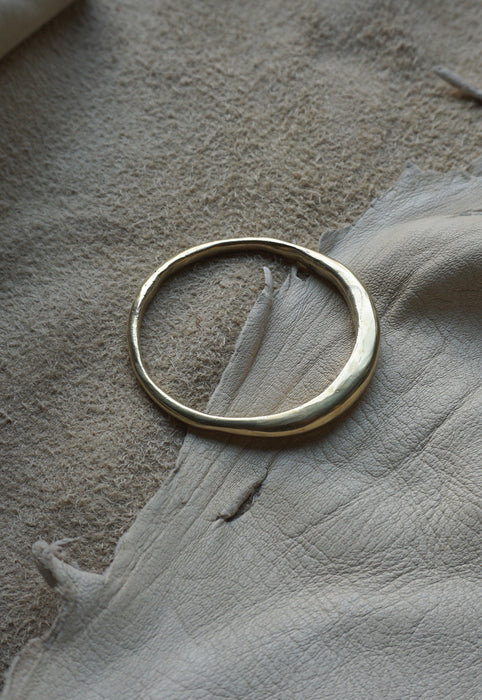 Organic Free Form Minimalist Asymmetrical Solid Brass Bangle Bracelet Cashmere Cactus Hand Made Desert Jewelry