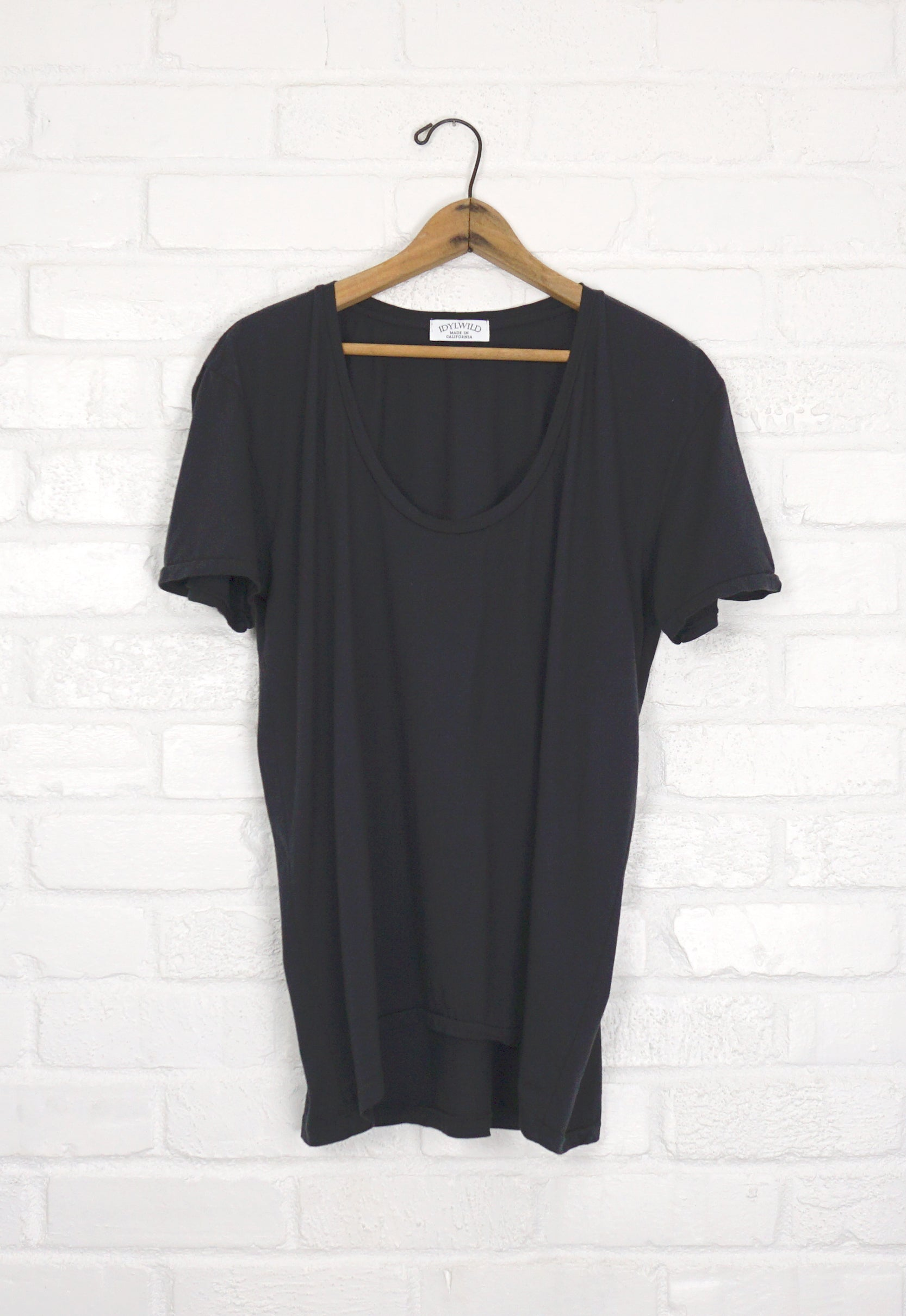 Idylwild Boyfriend Tee - Washed Black