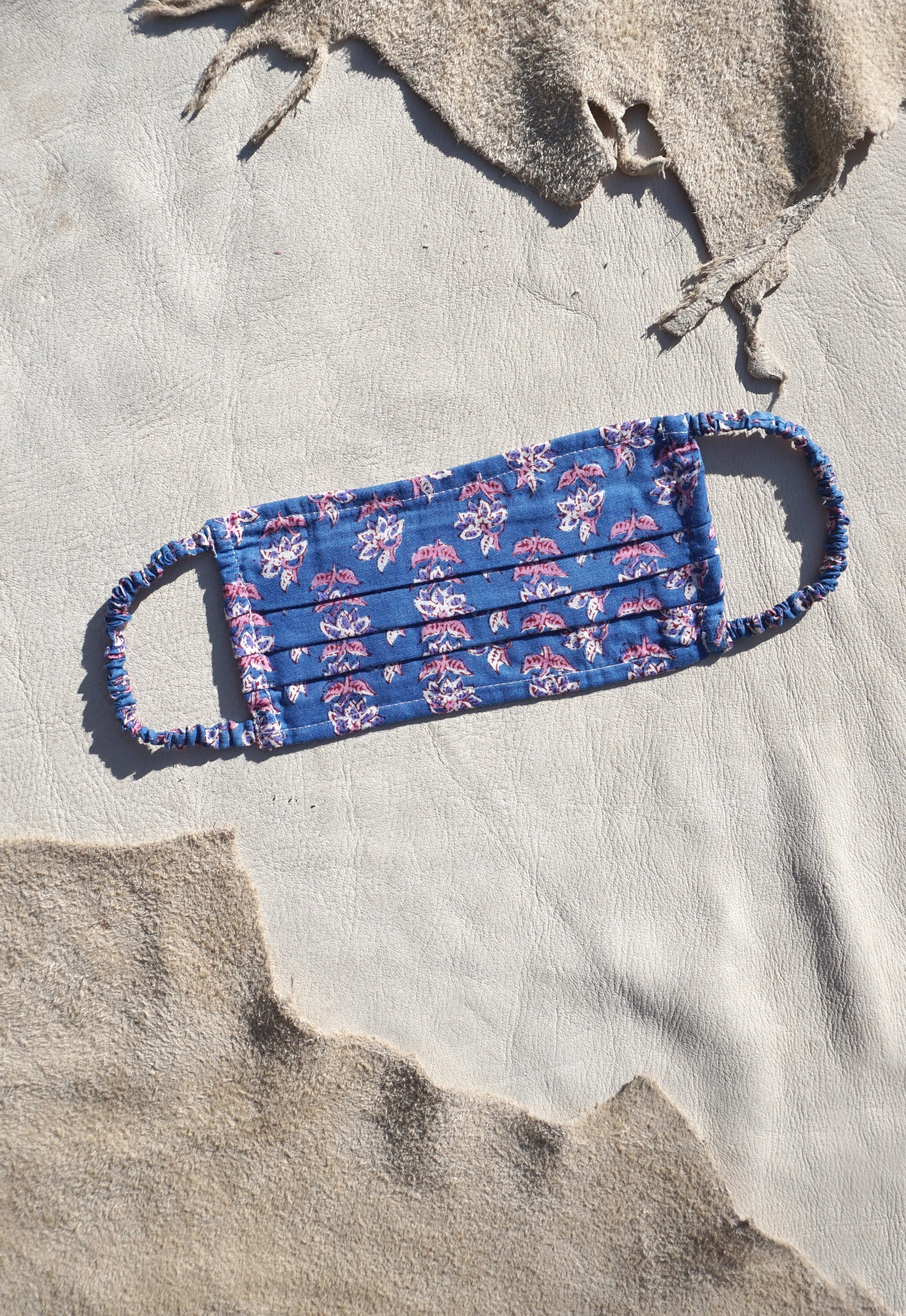 Indian Cotton Idylwild Blockprint Face Mask