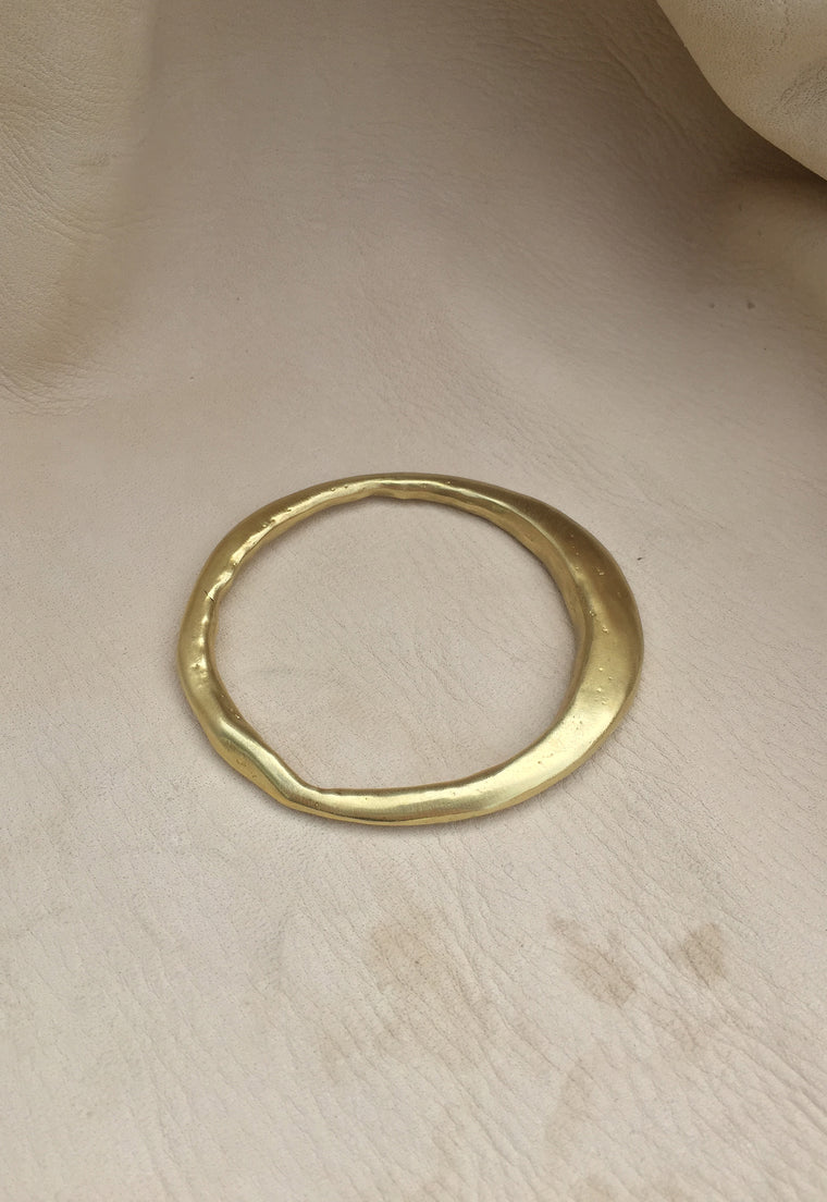 Solid Brass Sand Cast Bangle