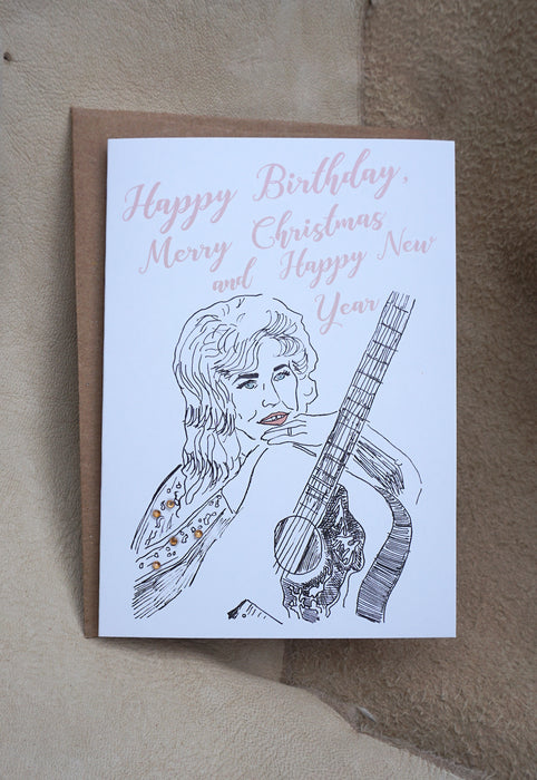 Happy Birthday, Merry Christmas & Happy New Year - Greeting Card