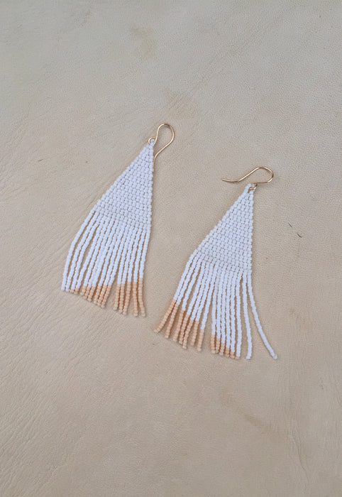 'Center' Hand Beaded Earrings